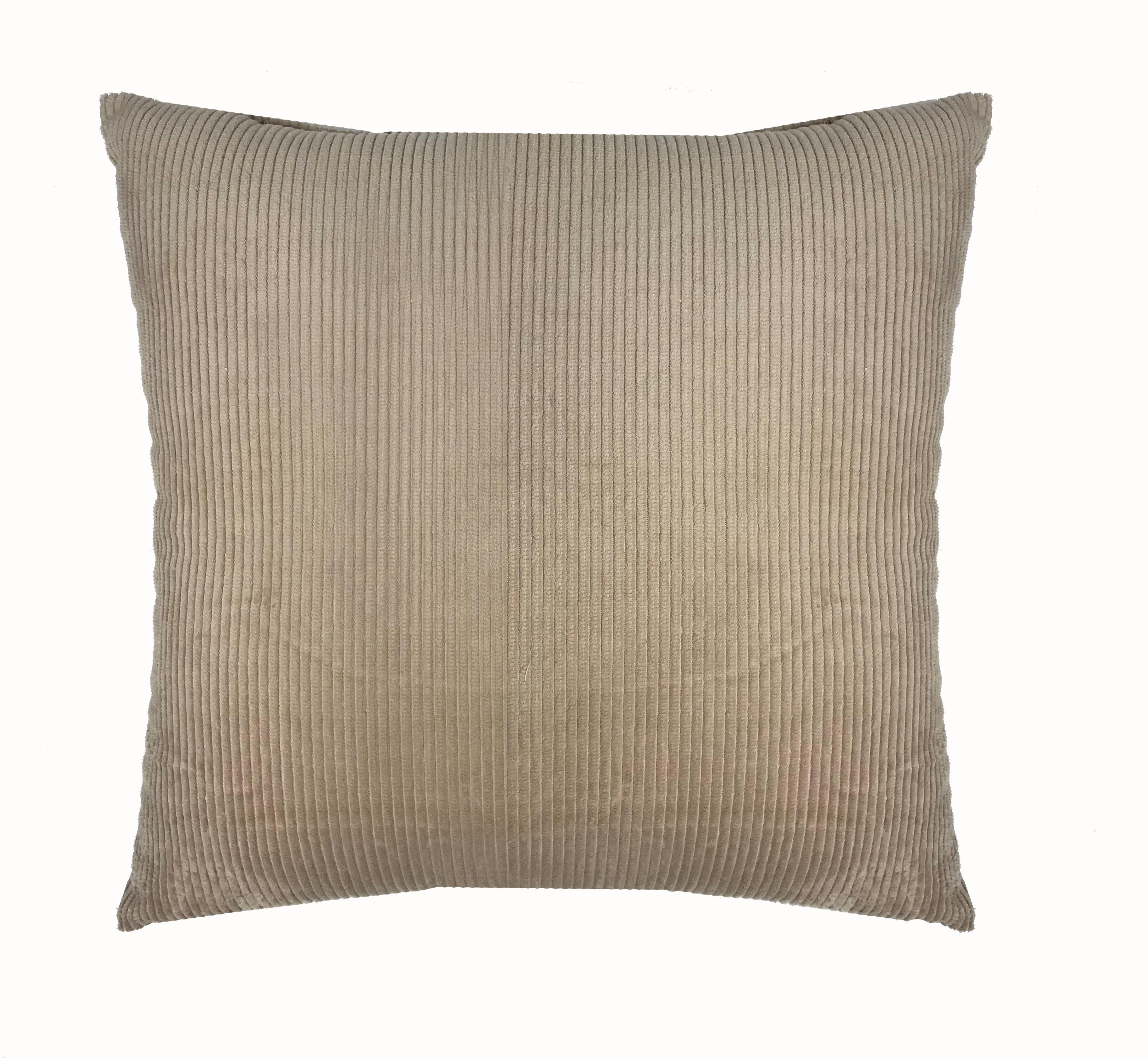 Cream Cord 45cm x 45cm Cushion