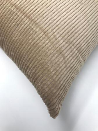 Cream Cord 45cm x 45cm Cushion Thumbnail 2