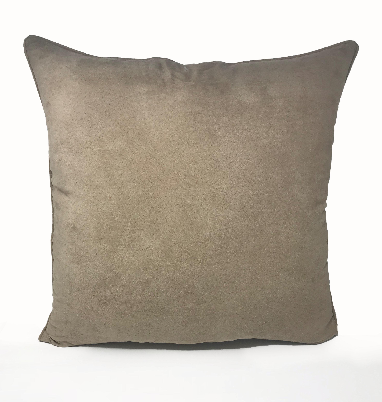 Suede Beige 55cm x 55cm Cushion