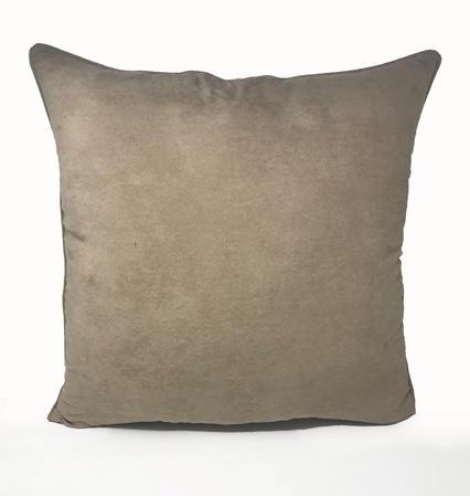 Suede Beige 55cm x 55cm Cushion Thumbnail 1