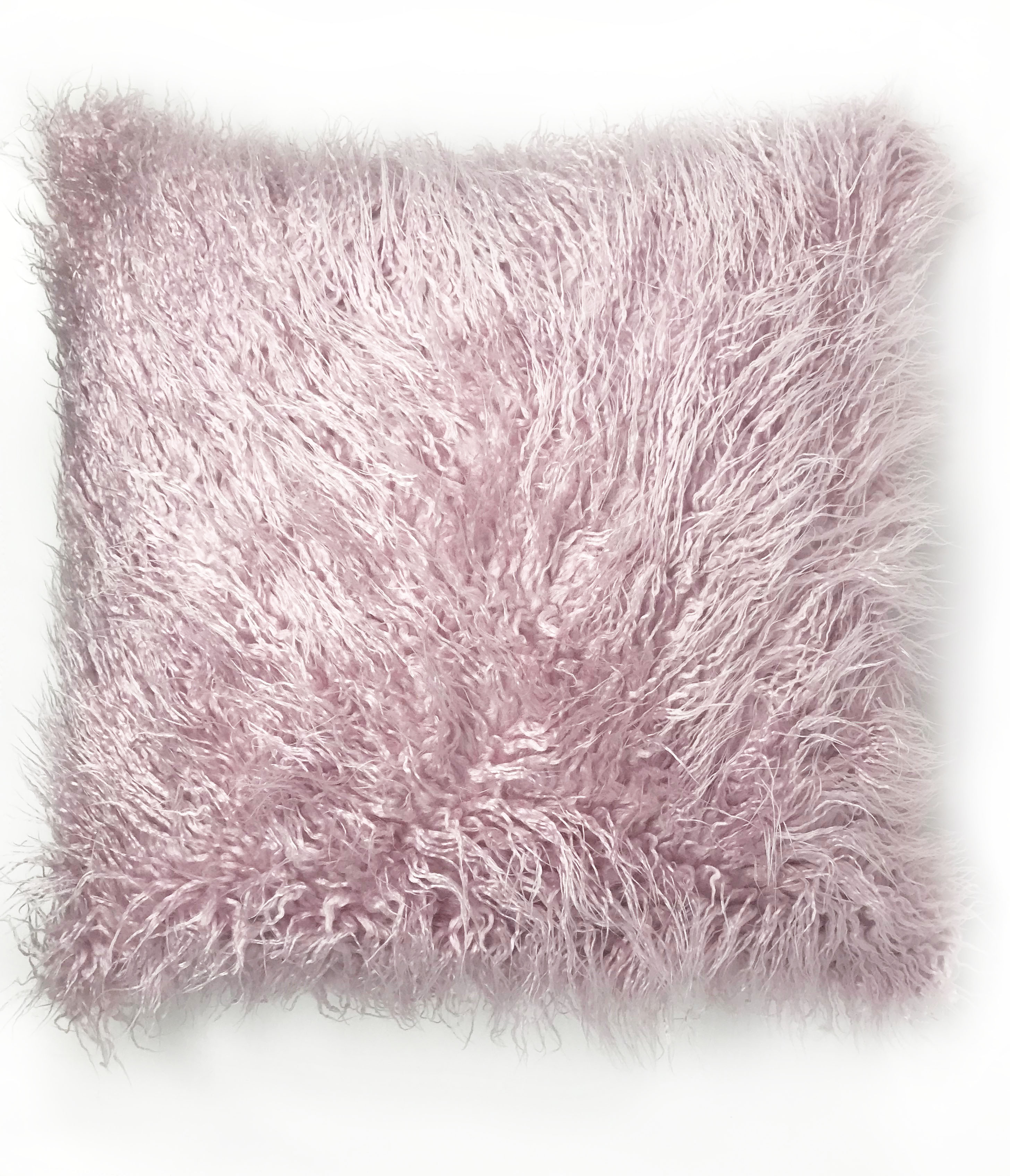 Lavender Pink Fur 45cm x 45cm Cushion Cover Only