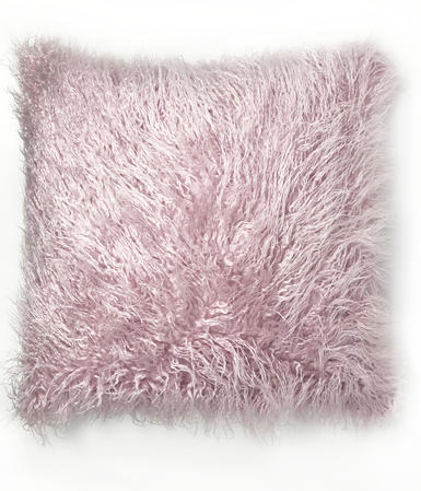 Lavender Pink Fur 45cm x 45cm Cushion Cover Only Thumbnail 1
