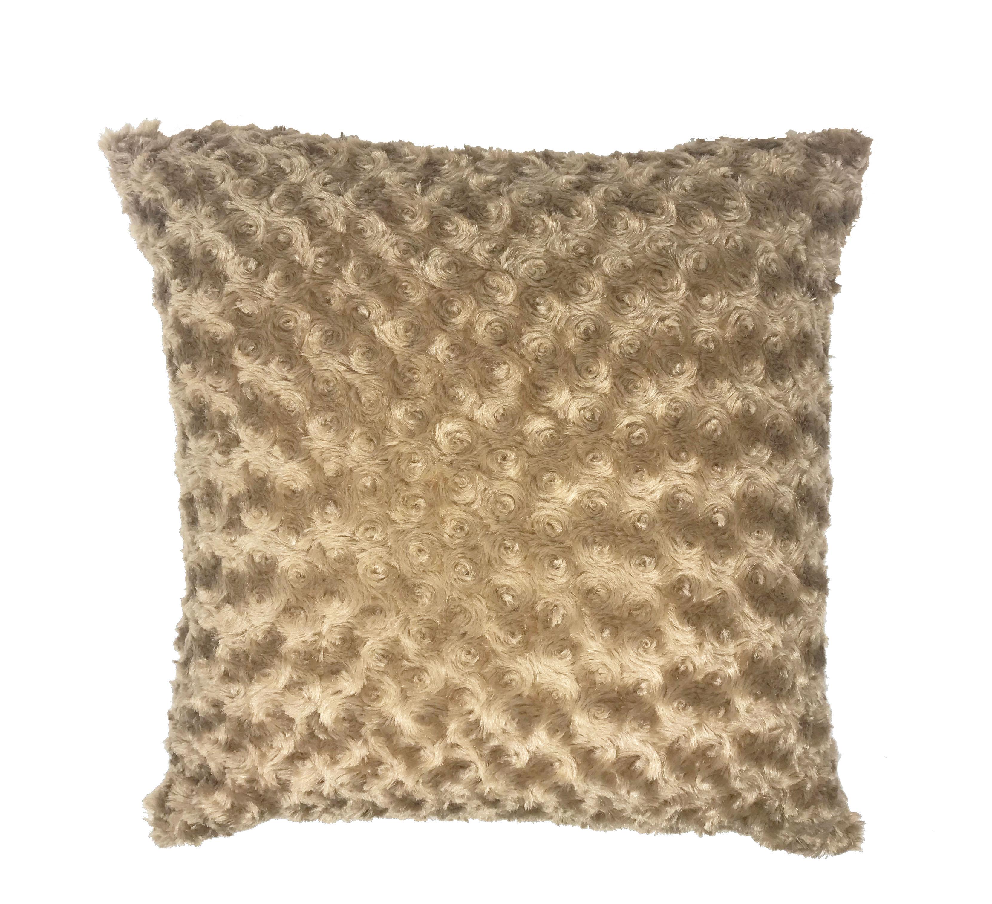 Swirl Fur Beige 45cm x 45cm Cushion Cover Only