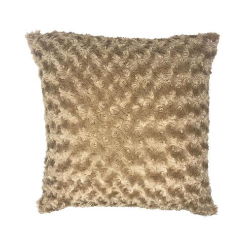 Swirl Fur Beige 45cm x 45cm Cushion Cover Only Thumbnail 1