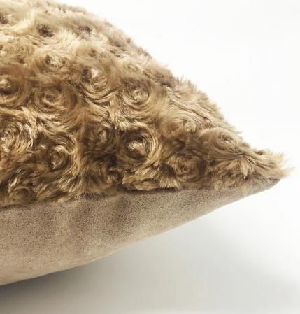 Swirl Fur Beige 45cm x 45cm Cushion Cover Only Thumbnail 2