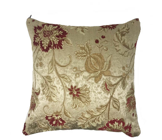 Floral Embroidered 43cm x 43cm Cushion Cover Only Thumbnail 1
