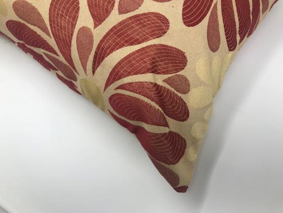 Mariella Brick Red Cream Floral 43cm x 43cm Cushion Cover Only Thumbnail 2