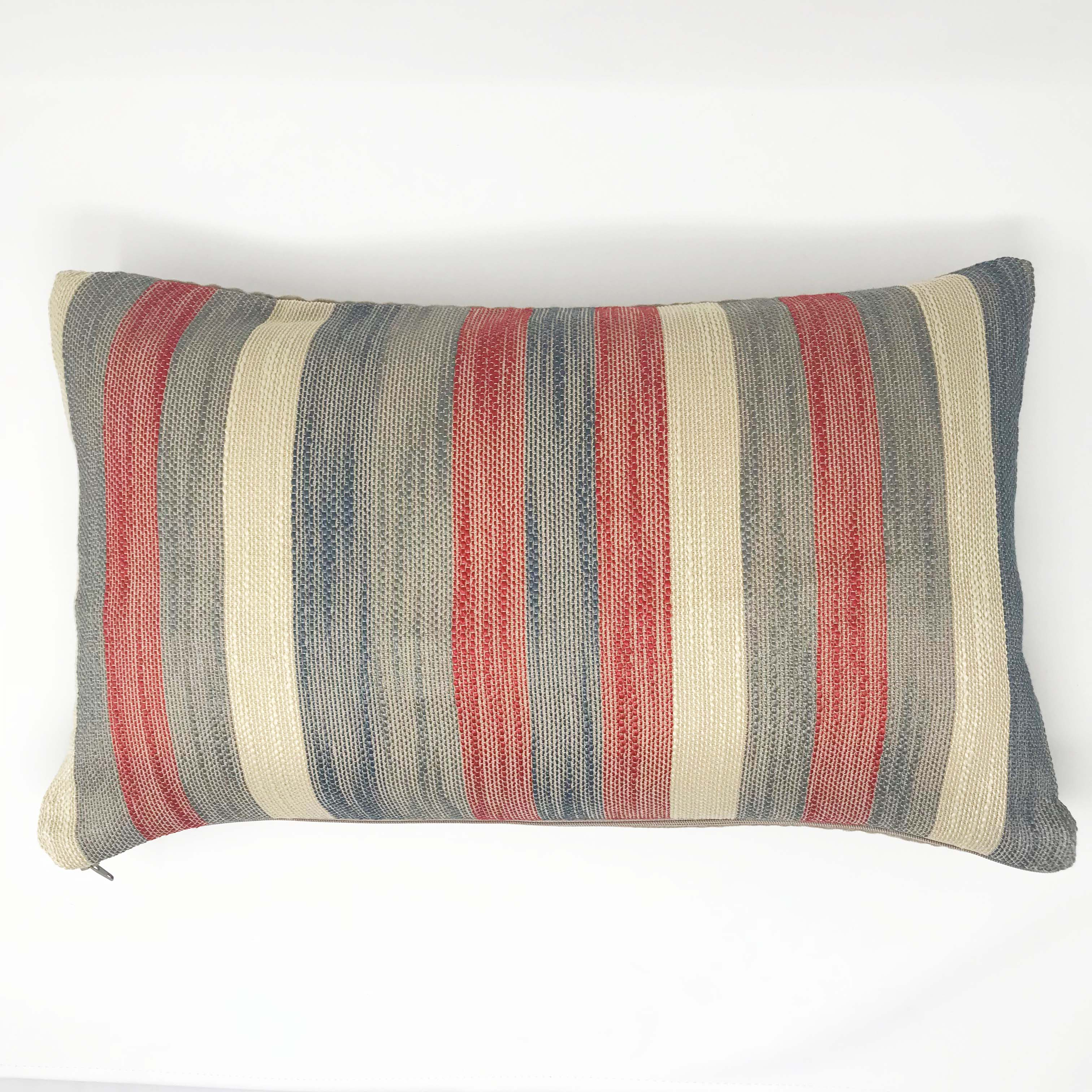 Madison Stripe Red/Grey 50cm x 30cm Cushion Cover Only