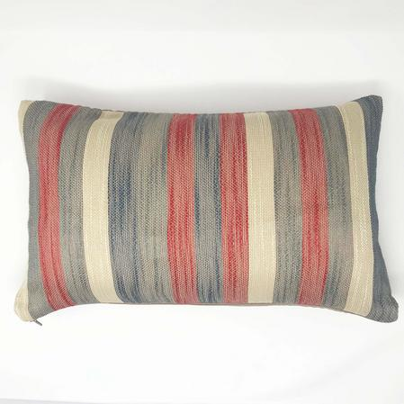Madison Stripe Red/Grey 50cm x 30cm Cushion Cover Only Thumbnail 1