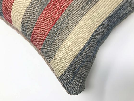 Madison Stripe Red/Grey 50cm x 30cm Cushion Cover Only Thumbnail 2