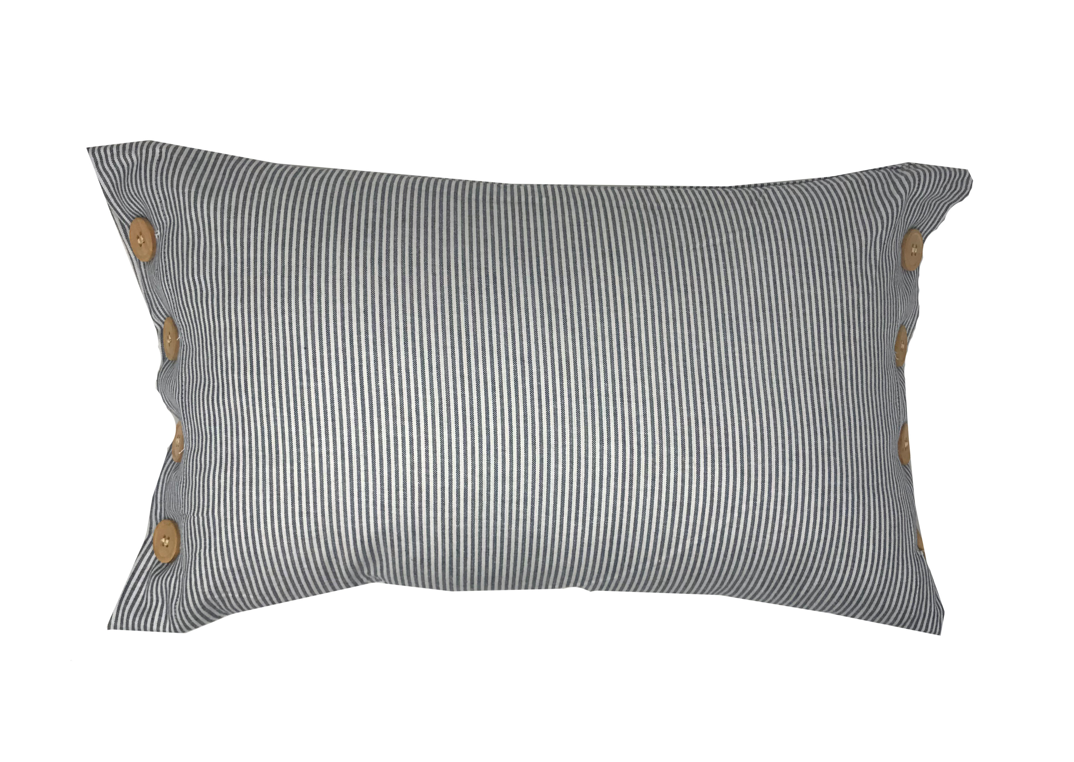 Sailor Navy Stripe Nautical Boudoir 50x30cm Cushion Cover Only