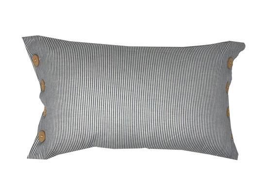 Sailor Navy Stripe Nautical Boudoir 50x30cm Cushion Cover Only Thumbnail 1