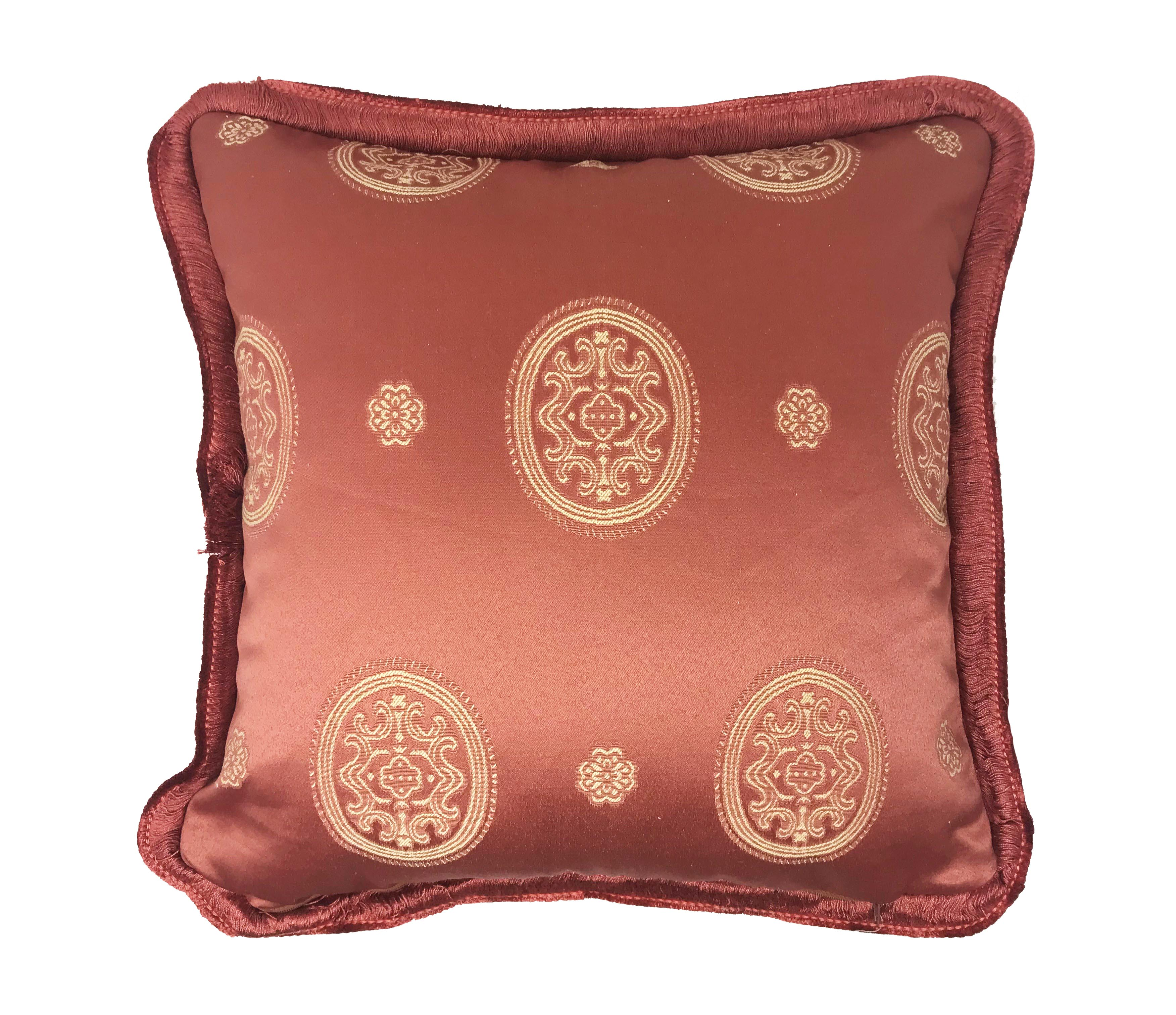 Oxford Style Hobart Rose Teracotta 43cm x 43cm Cushion Cover Only