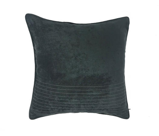 Suede Grey Piped Edge 43cm x 43cm Cushion Cover Only Thumbnail 1
