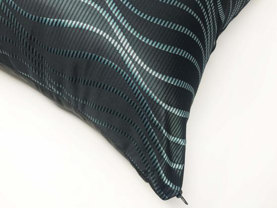 Metallic Teal/Blue Bassili Kingfisher 55x55cm Cushion Cover Only Thumbnail 2