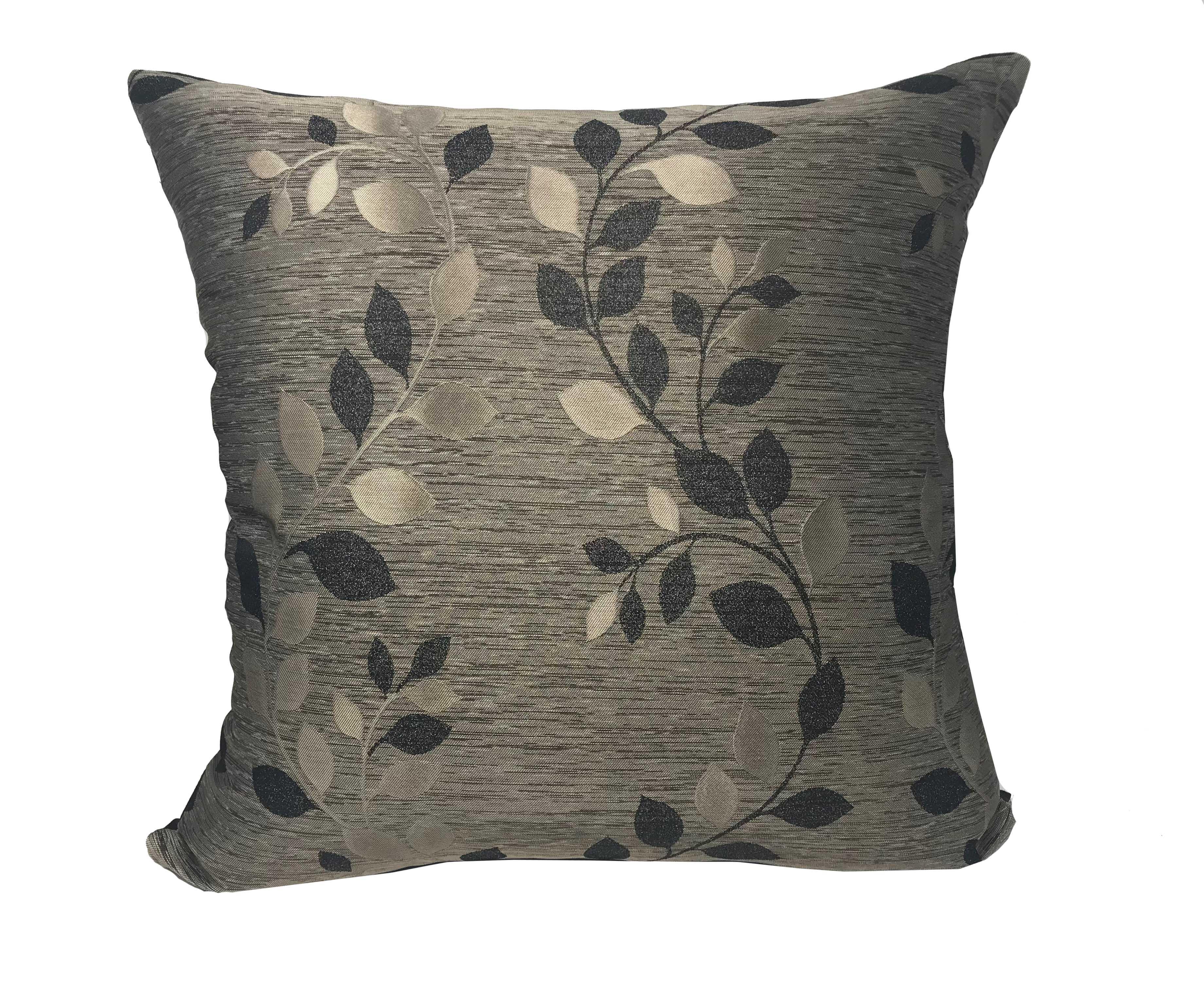 Palma Black 55cm x 55cm Cushion Cover Only