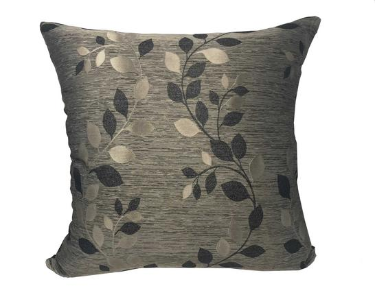 Palma Black 55cm x 55cm Cushion Cover Only Thumbnail 1