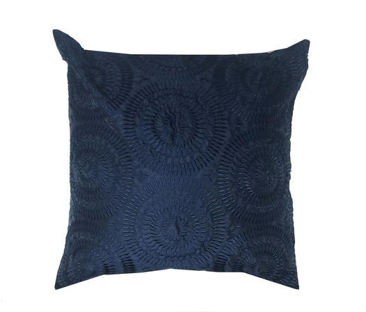 Roulette Navy Blue 43cm x 43cm Cushion Cover Only Thumbnail 1