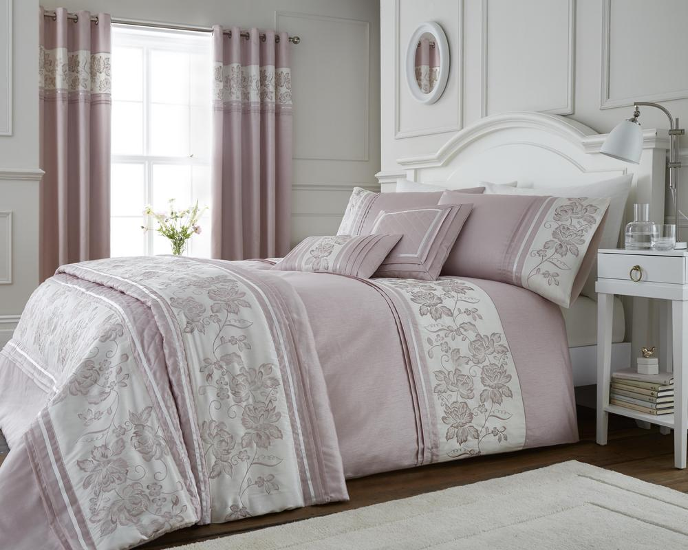Emily Floral Embroidered Duvet Set