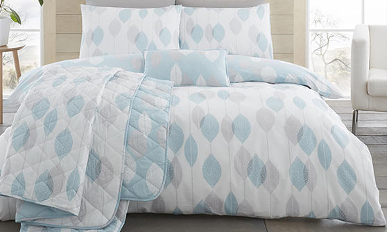 COMING SOON - Etched Collection Bedding Set & Bedding Range in Grey, Blush & Duck Egg Blue