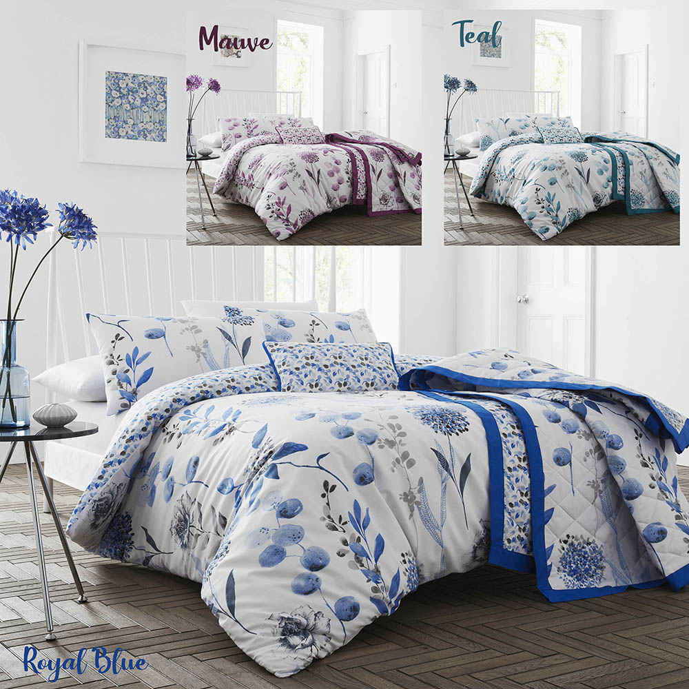 200TC Inky Floral Duvet Sets