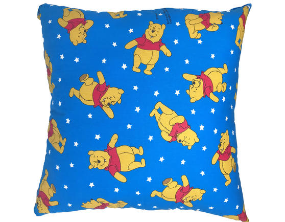 Disney Winnie the Pooh Filled Cushions in Royal Blue Thumbnail 1
