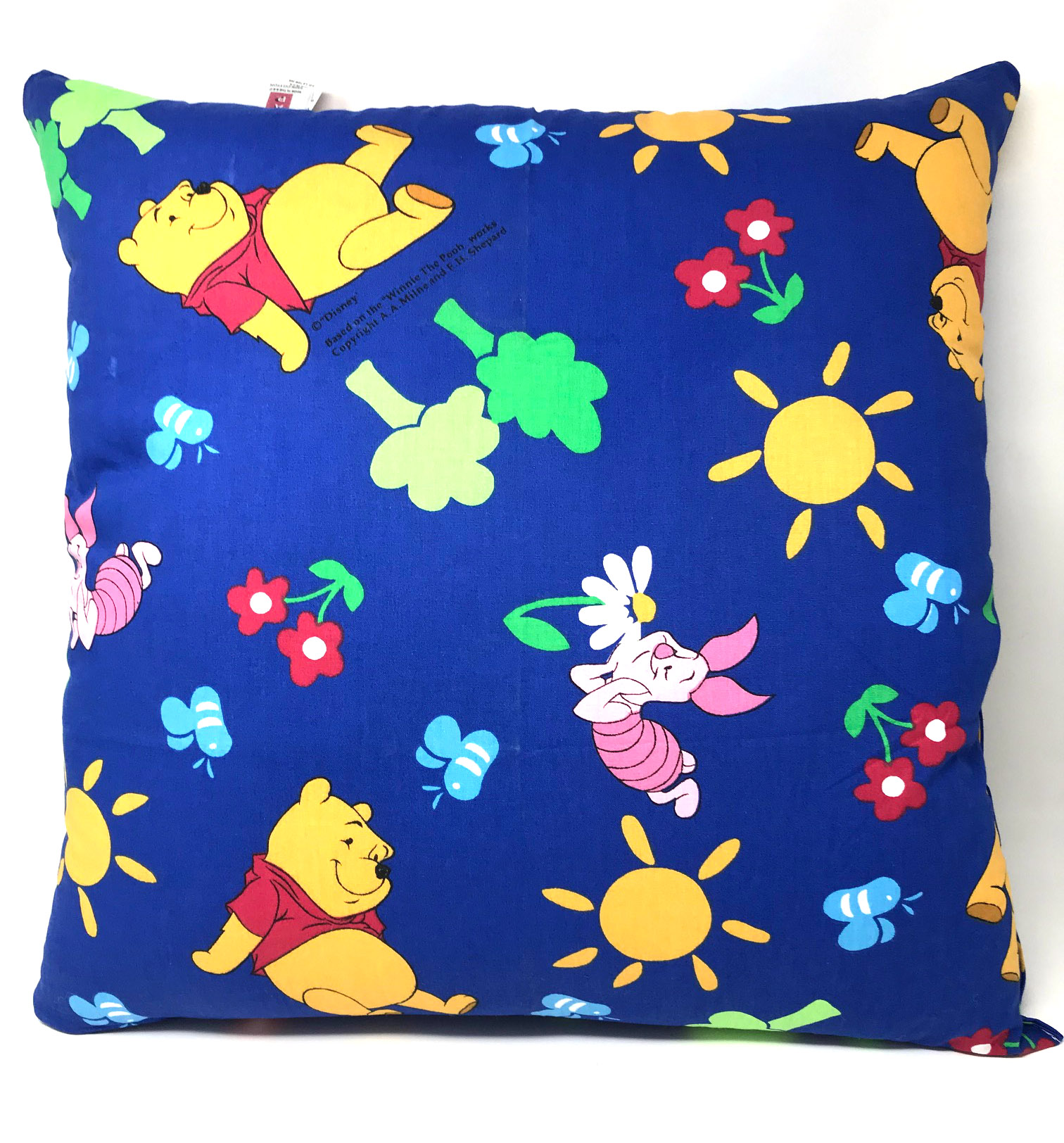 Winnie The Pooh and Piglet Blue Filled Cushion