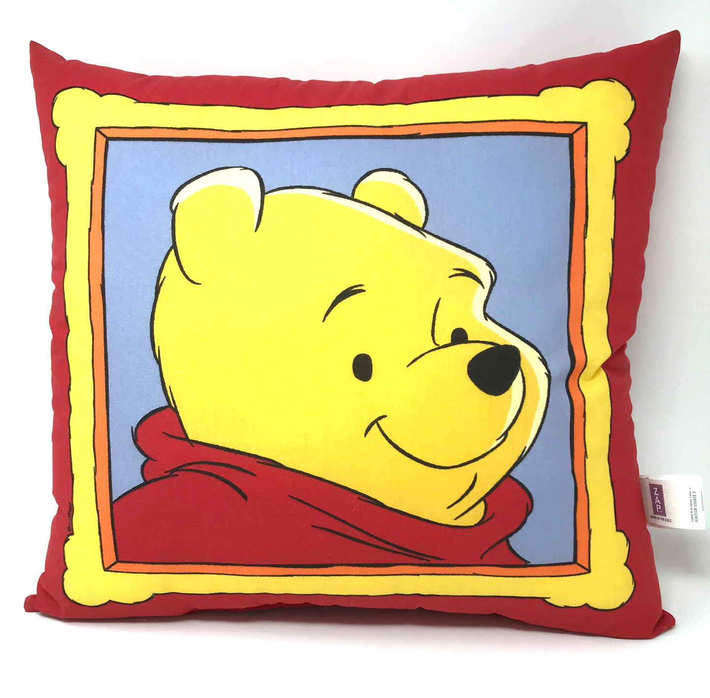 Red Reversible Winnie the Pooh and Friends Filled Cushion