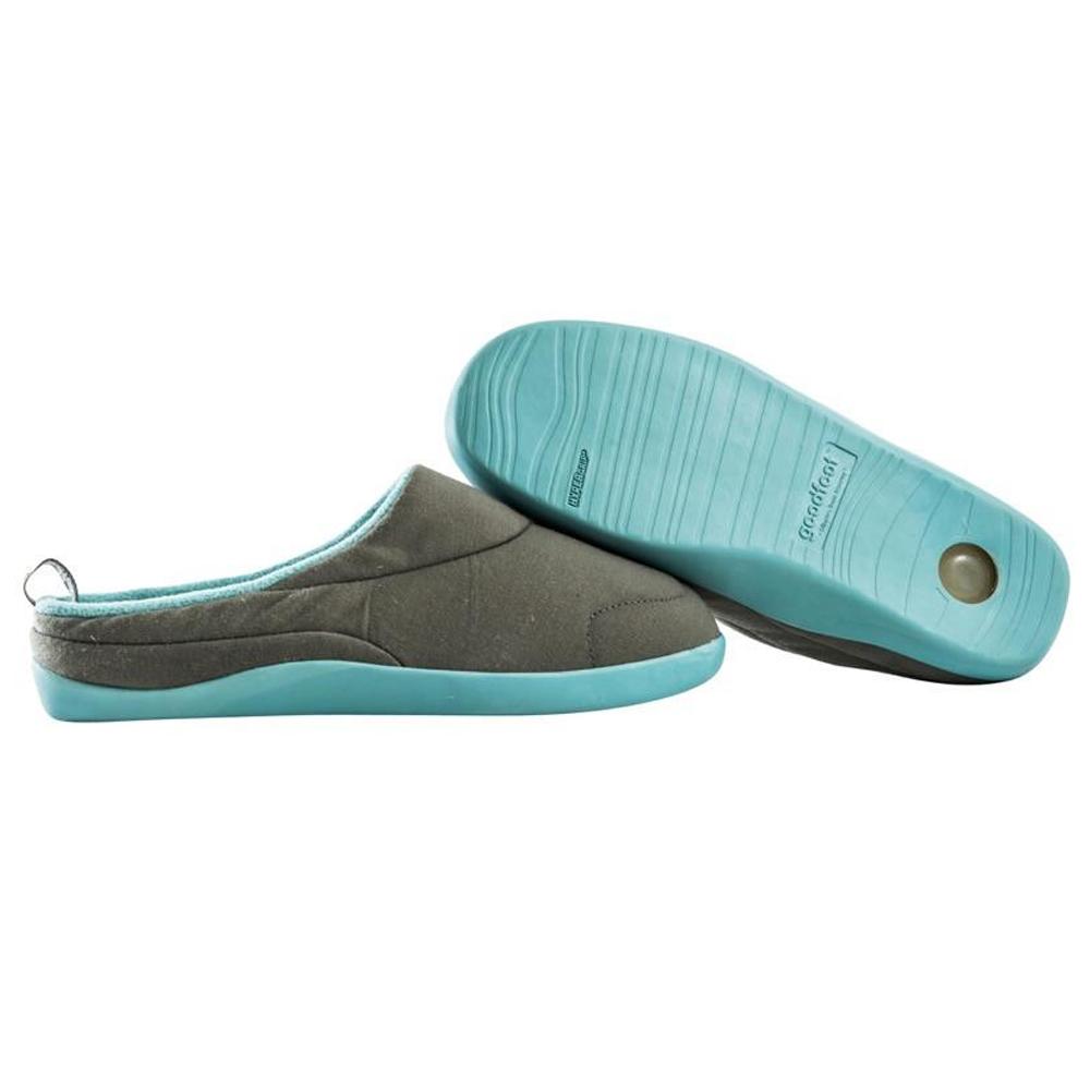 Goodfoot Orthopaedic Memory Foam Slippers With Gel Heel