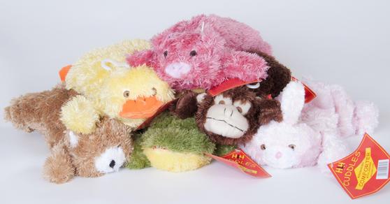 Children Plush Microwaveable comforter/Toy with Lavender Animal Duck Design Thumbnail 3
