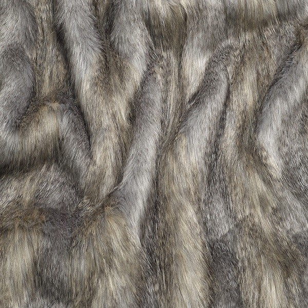 Long Haired Faux Fur Range in Blue Wolf