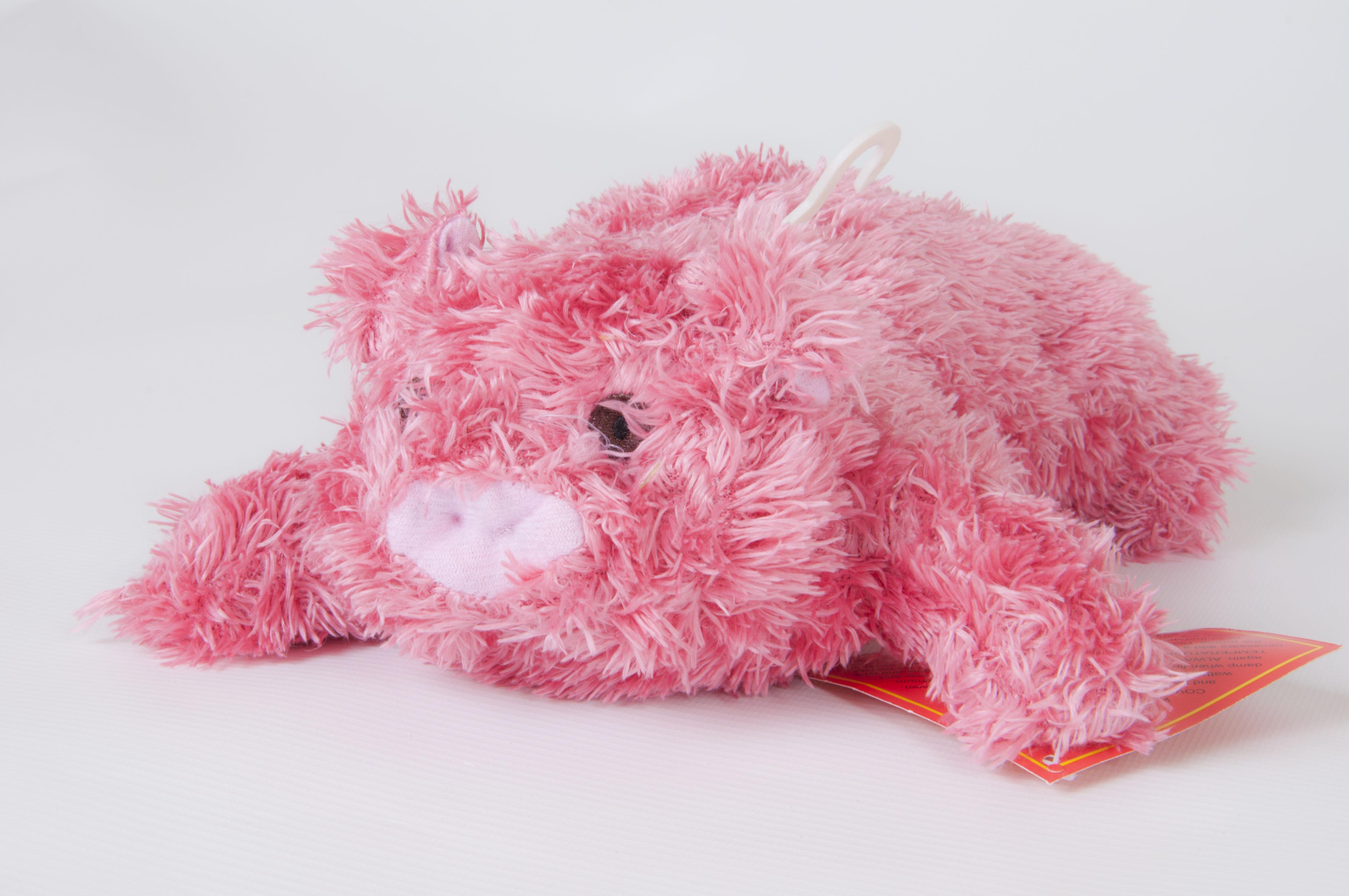 Children Plush Microwaveable comforter/Toy with Lavender Animal Piglet Design