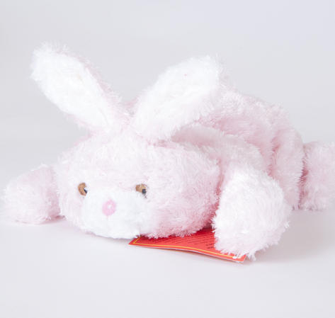 Children Plush Microwaveable comforter/Toy with Lavender Animal Bunny Design Thumbnail 1