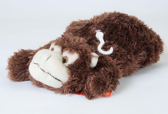 Children Plush Microwaveable comforter/Toy with Lavender Animal Monkey Design