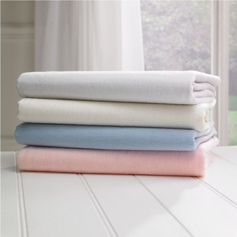 ... 100% Brushed Thermal Cotton Flannelette Solid Fitted Sheets And  Pillowcases Thumbnail 3