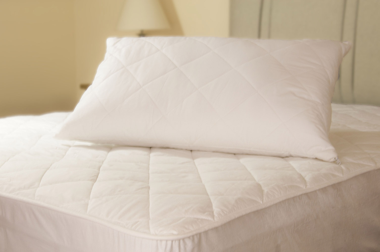 Quilted Polycotton Pillow Protectors Pair