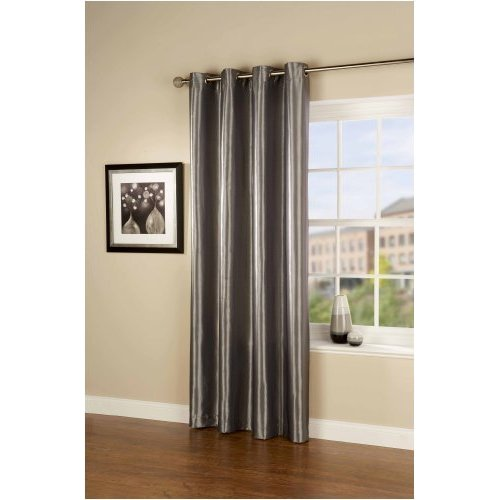 Passionate Faux Silk Eyelet Curtain/Panel in Teal Green