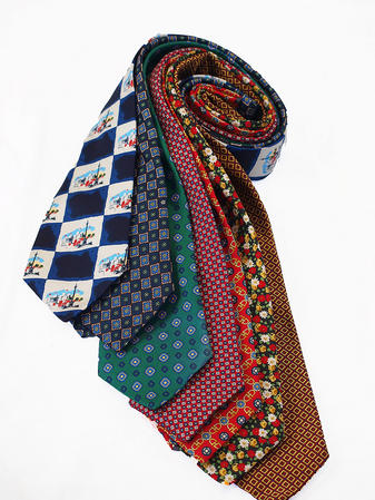 Cavenagh of London 7Piece 100% Pure Silk Ties Made in UK (120D)RRP£139.99 Thumbnail 1