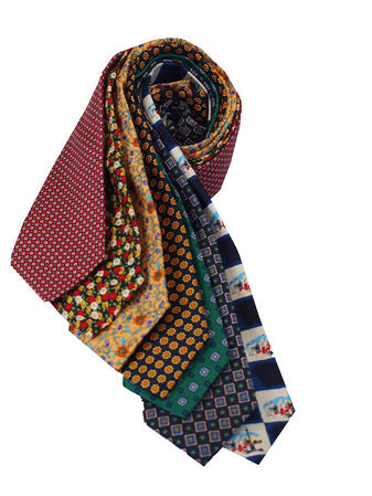 Cavenagh of London 7Piece 100% Pure Silk Ties Made in UK (117D)RRP£139.99 Thumbnail 1