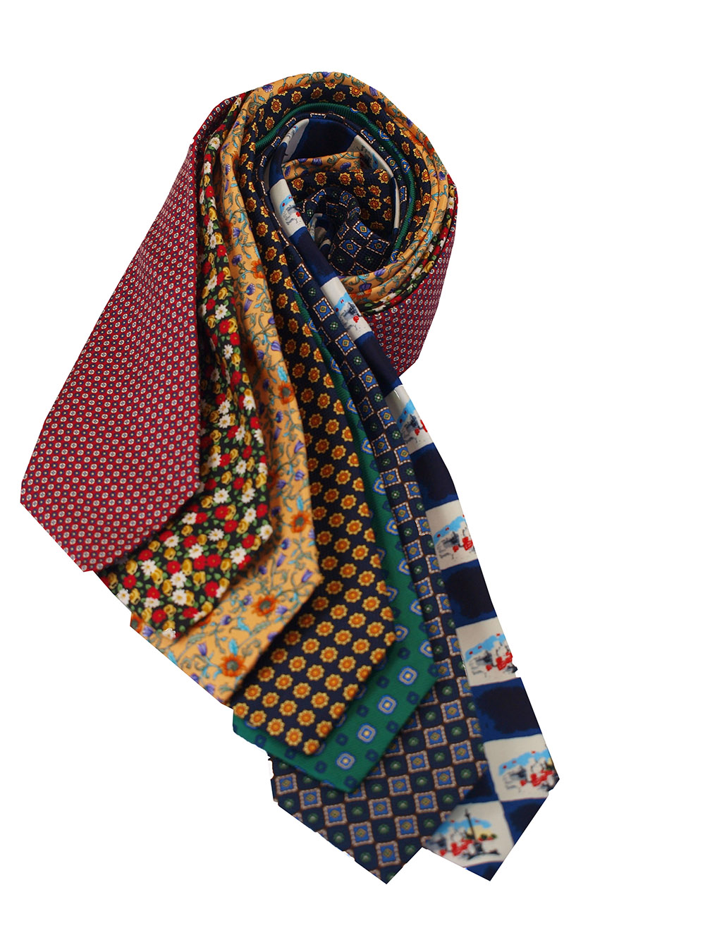 Cavenagh of London 7Piece 100% Pure Silk Ties Made in UK (117D)RRP£139.99