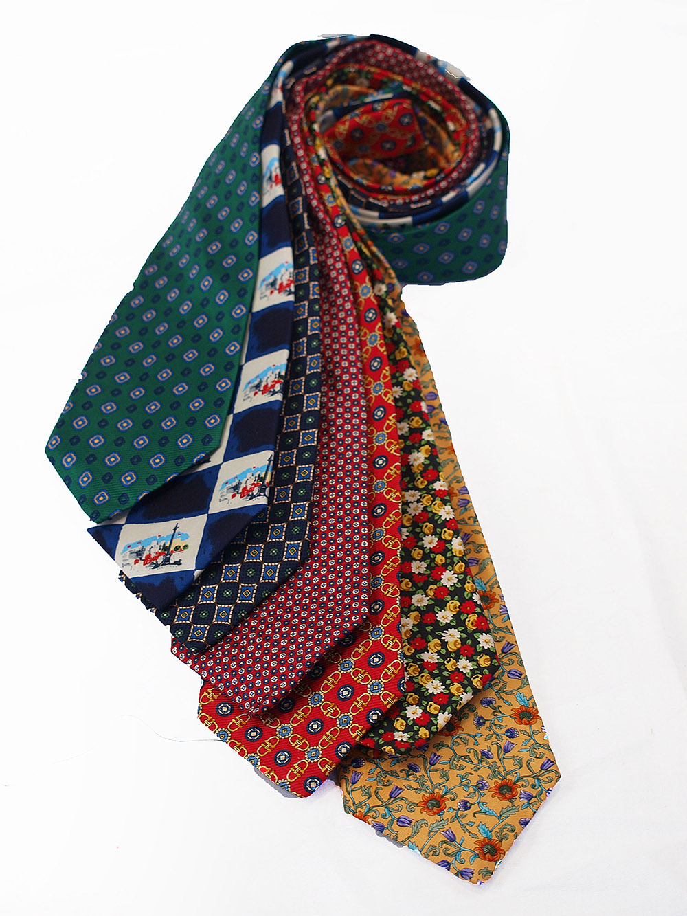 Cavenagh of London 7Piece 100% Pure Silk Ties Made in UK (118D)RRP£139.99