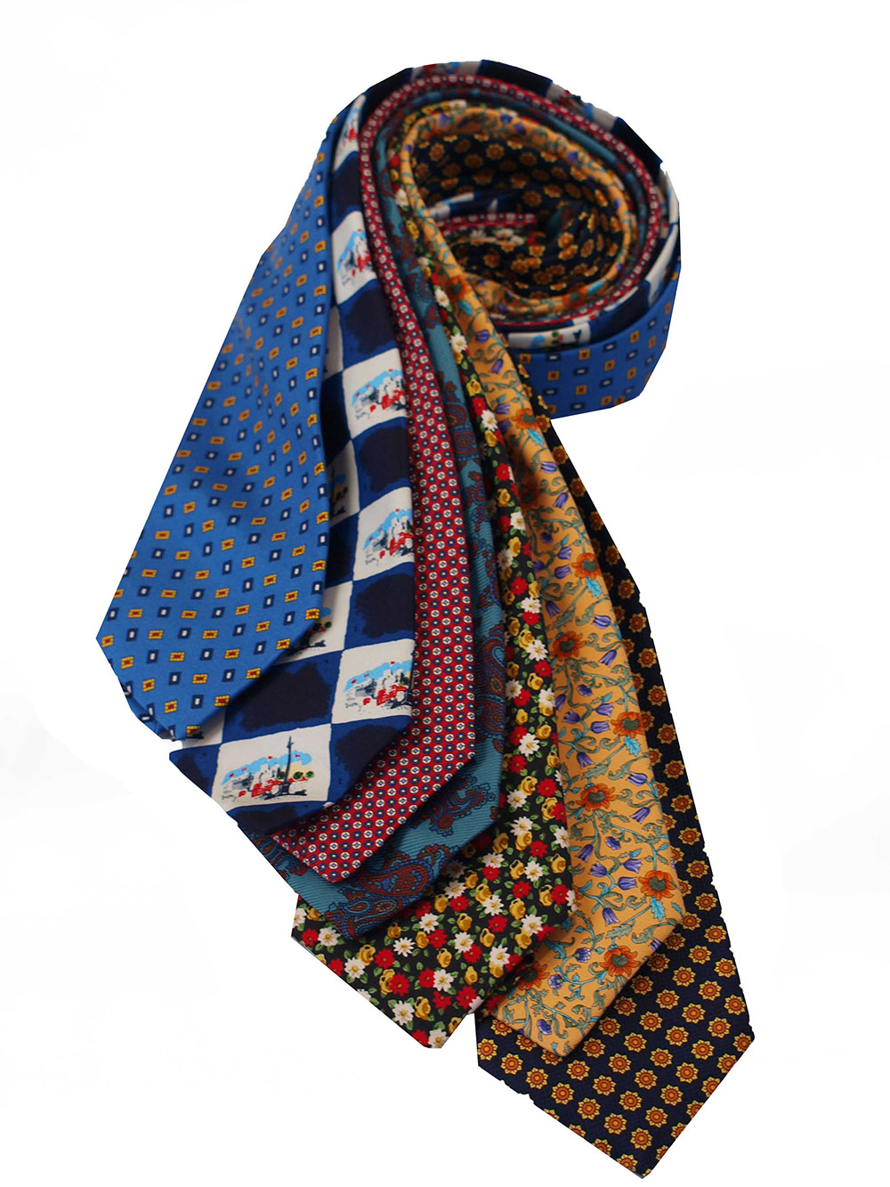 Cavenagh of London 7Piece 100% Pure Silk Ties Made in UK (115D)RRP£139.99