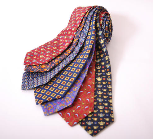 Cavenagh of London 7Piece 100% Pure Silk Ties Made in UK (520D)RRP£139.99 Thumbnail 1