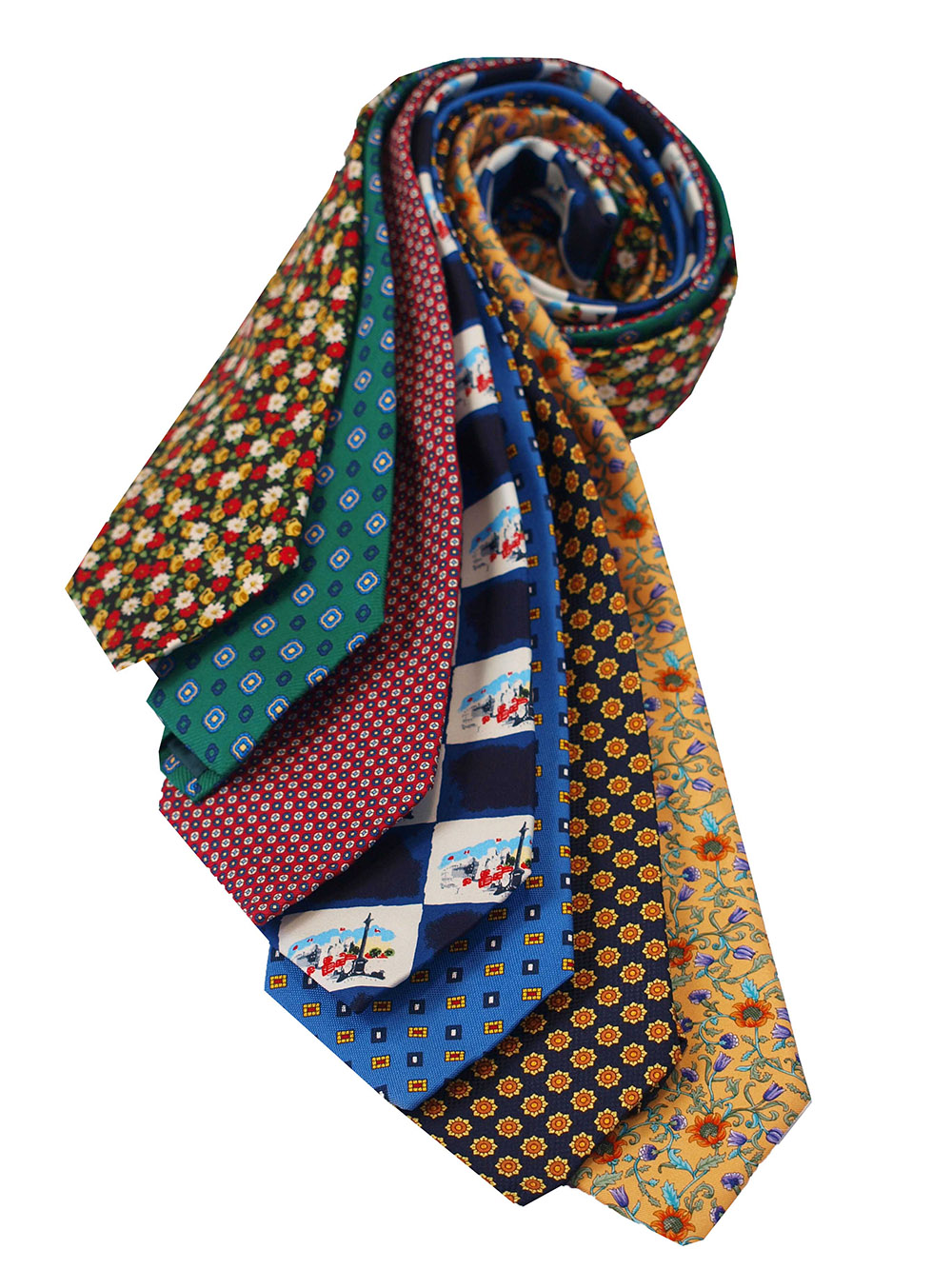 Cavenagh of London 7Piece 100% Pure Silk Ties Made in UK (116D)RRP£139.99