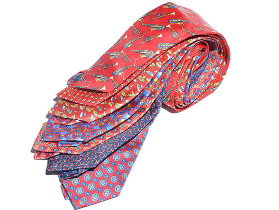 Cavenagh of London 7Piece 100% Pure Silk Ties Made in UK (430D)RRP£139.99 Thumbnail 1