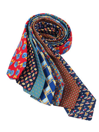 Cavenagh of London 7Piece 100% Pure Silk Ties Made in UK (241D)RRP£139.99 Thumbnail 1