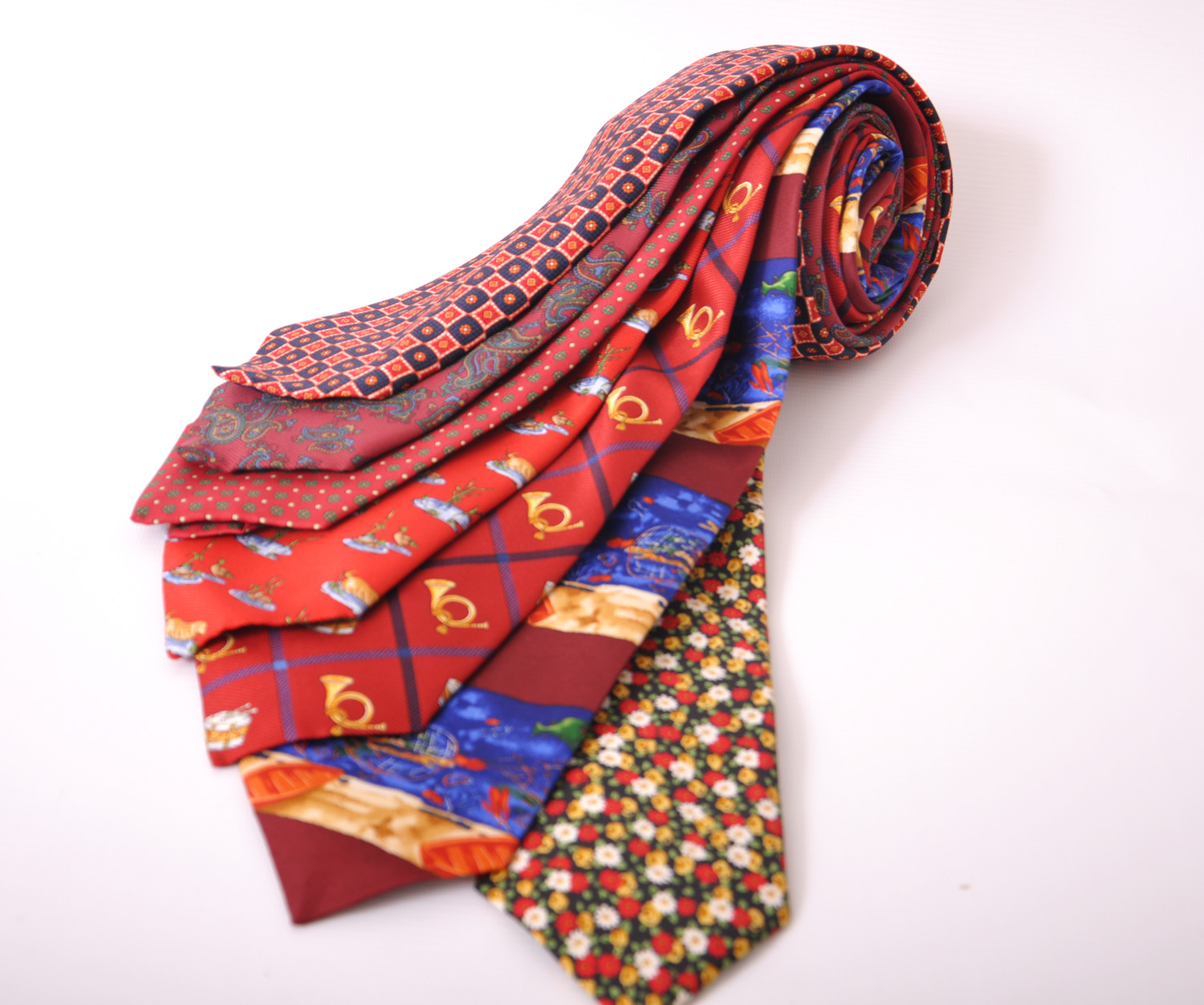 Cavenagh of London 7Piece 100% Pure Silk Ties Made in UK (323D)RRP£139.99