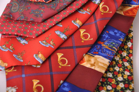Cavenagh of London 7Piece 100% Pure Silk Ties Made in UK (323D)RRP£139.99 Thumbnail 2