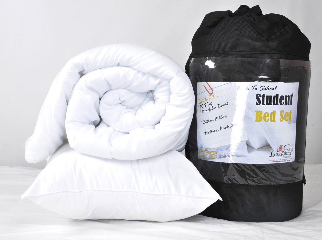 10.5 Tog - Double 3 Piece Student Bed Set