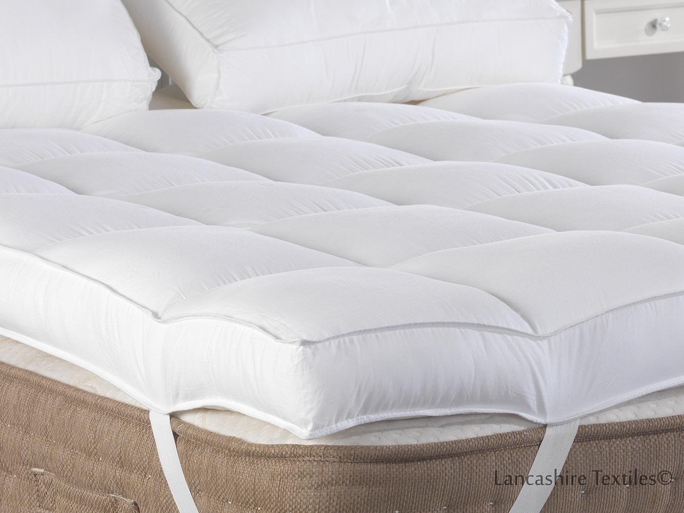 thick mattress topper. Sentinel New Lancashire Textiles Deep Luxurious 4 Inch (10cm) Thick  Mattress Topper Thick Mattress Topper M